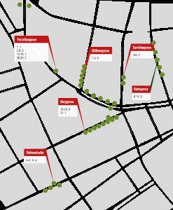 Blühendes Servitenviertel Karte