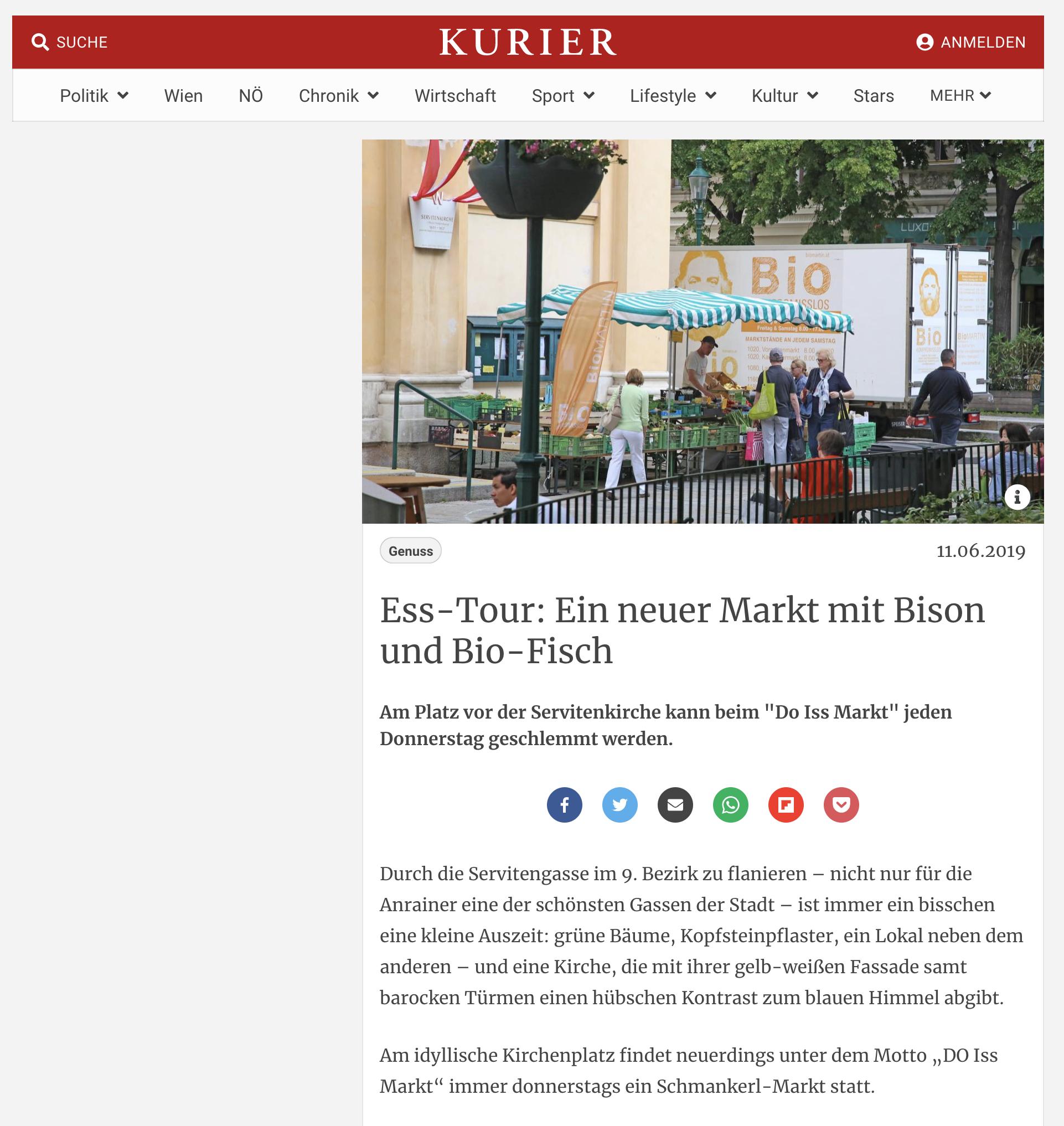 Ess-Tour: Ein neuer Markt mit Bison und Bio-Fisch